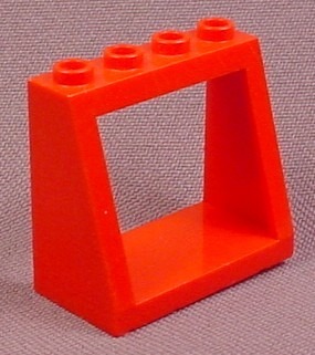 Lego 2352 Red 2x4x3 Sloped Window Windshield Frame Brick