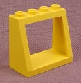 Lego 2352 Yellow 2x4x3 Sloped Window Windshield Frame Brick