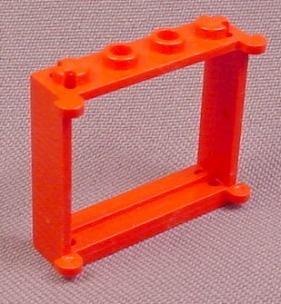 Lego 3853 Red 1x4x3 Window Frame