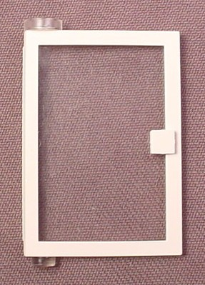 Lego 73436C01 White 1x4x5 Left Door With Clear Glass, 7866 7838 4554 7835 7824 730 1490 6418