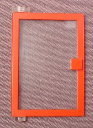 Lego 73436C01 Red 1x4x5 Left Door With Clear Glass, 809 9267 1065 9364 6373 6699 5149