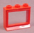 Lego 31CC01 Red 1x3x2 Classic Window With Pane