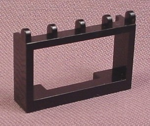 Lego 4214 Black 1x4x2 Hinged Car Roof Holder, Adventurers, Racers, Trains