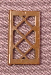 Lego 2529 Brown 1x2x3 Latticed Window Panel, 3451 4728 10024, Harry Potter, Sculptures