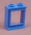 Lego 7026 Blue 1x2x2 Classic Window With Glass Pane, 3081CC01