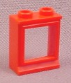 Lego 7026 Red 1x2x2 Classic Window With Glass Pane, 3081CC01