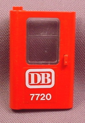 Lego 4181 Red 1x4x5 Left Train Door with Glass & DB 7720 Sticker, Battery Train Set