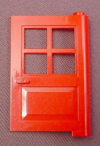 Lego 3861 Red 1x4x5 Door With 4 Panes & Lego 3861 Red 1x4x5 Door With 4 Panes - RONS RESCUED TREASURES