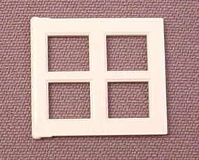 Lego 4133 White 2x4x3 Window Pane With 4 Openings
