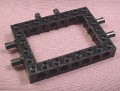Lego 40345CX1 Black 6x8 Technic Brick With 2 Pins on 3 Sides and Open 4x6 Center, 7244, Floating