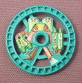 Lego 32357 Teal 5x5 Technic Disc, Toxic