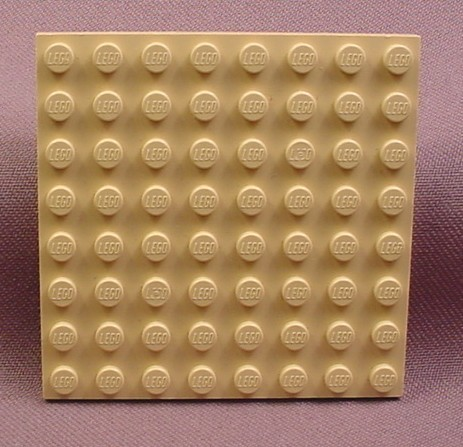 Lego 41539 Tan 8x8 Plate, 2 1/2 by 2 1/2 In, 4475 4476 4518 4728 9761, Star Wars, Harry Potter