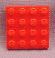 Lego 3031 Red 4x4 Plate