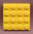 Lego 3031 Yellow 4x4 Plate