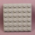 Lego 3958 Gray 6x6 Plate, Star Wars, Castle, Pirates