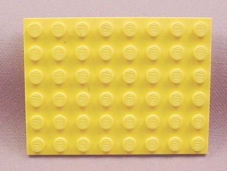Lego 3036 Yellow 6x8 Plate, Technic, Trains, Pirates, Space