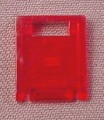 Lego 4346 Transparent Red 2x2x2 Door For 4345 Container Box, 6776, Alpha Team