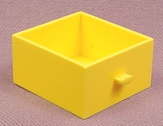 Lego 3 Yellow 4x4x2 Homemaker Container Cupboard Dress Drawer, 263 268 297 5233