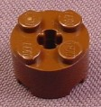 Lego 3941 Brown 2x2 Round Brick With Technic Center Hole, Star Wars, Western, Adventurers