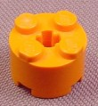 Lego 3941 Orange 2x2 Round Brick With Technic Center Hole, Underground, Exo-Force