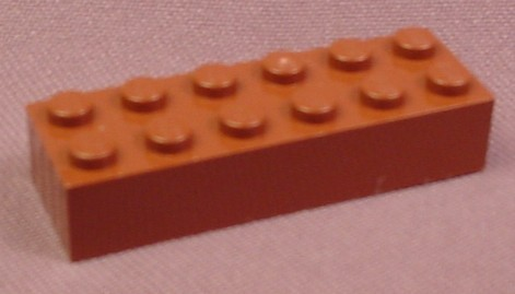 Lego 2456 Brown 2x6 Brick, 3746 4400 7184, Star Wars, Trains