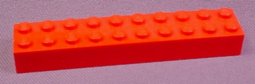 Lego 3006 Red 2x10 Brick, Racers, Trains, Castle