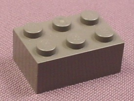 Lego 3002 Dark Gray 2x3 Brick, Star Wars, Harry Potter, Adventurers, Designer, Castle, Space
