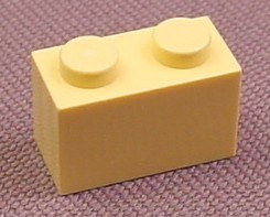 Lego 3004 Light Yellow 1x2 Brick, 6736 6740