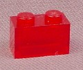 Lego 3004 Transparent Red 1x2 Brick