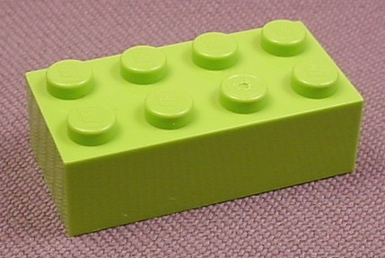 Lego 3001 Lime Green 2x4 Brick