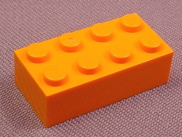 Lego 3001 Orange 2x4 Brick