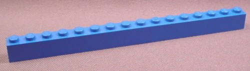 Lego 2465 Blue 1x16 Brick, 1789 1955 3585 4402 4560 4561 6973 6983, Star Wars, Space, Designer