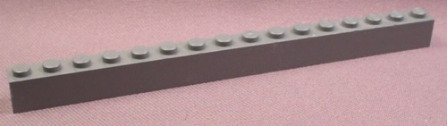Lego 2465 Dark Stone Gray 1x16 Brick, 4210 7730 8759 4756 7237 4854 7237 10143 7476 10187 7366
