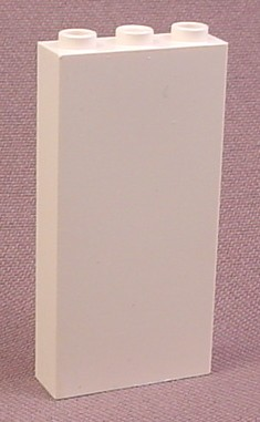 Lego 3755B White 1x3x5 Brick With Side Supports