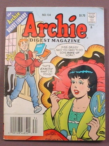 Archie Digest Magazine Comic #134, May 1995, Good Condition, Light Water Stain