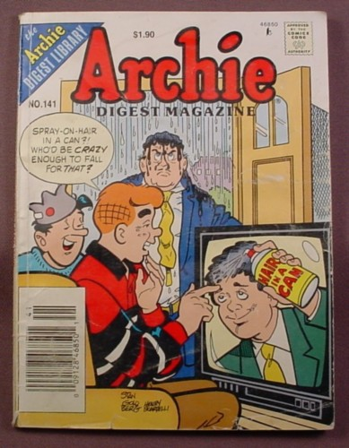 Archie Digest Magazine Comic #141, June 1996, Fair Condition, Wear to Cover