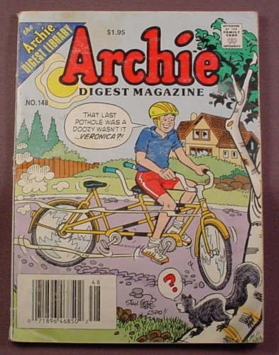 Archie Digest Magazine Comic #148, June 1997, Fair Condition, Wear to Cover