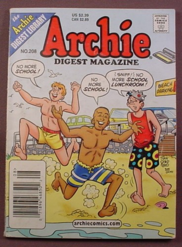 Archie Digest Magazine Comic #208, Aug 2004, Good Condition, Crease In Back Cover
