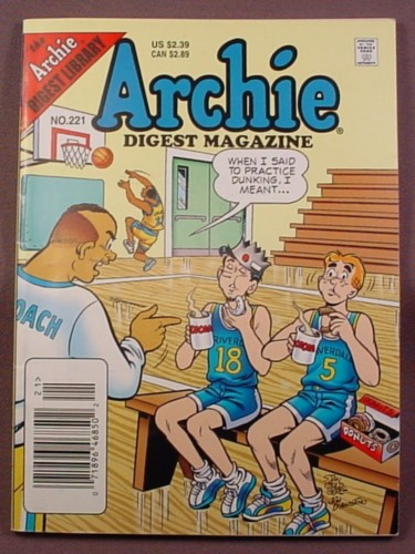 Archie Digest Magazine Comic #221, Jan 2006, Very Good Condition
