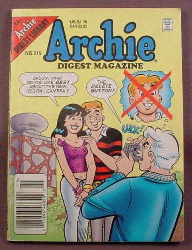 Archie Digest Magazine Comic #219, Oct 2005, Very Good Condition