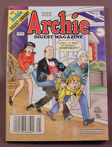 Archie Digest Magazine Comic #225, July 2006, Good Condition