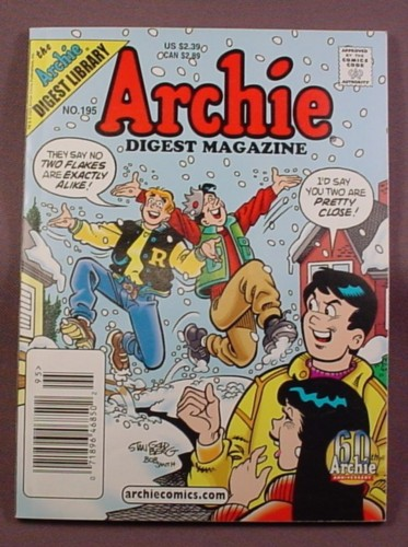 Archie Digest Magazine Comic #195, Mar 2003, Very Good Condition