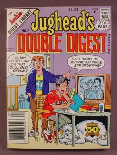 Jughead's Double Digest Comic #7, May 1991, Very Good Condition