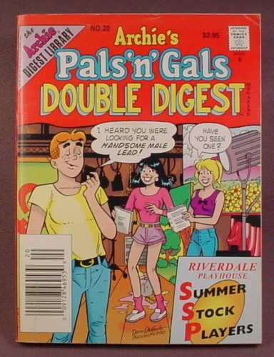 Archie's Pals N Gals Double Digest Magazine Comic #20, Aug 1996, Very Good Condition