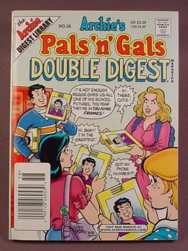 Archie's Pals N Gals Double Digest Magazine Comic #58, July 2001, Very Good Condition