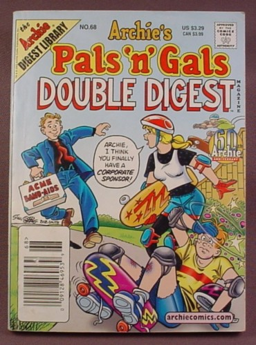 Archie's Pals N Gals Double Digest Magazine Comic #68, Sept 2002, Good Condition