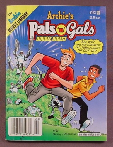 Archie's Pals N Gals Double Digest Magazine Comic #123, Sept 2008, Good Condition