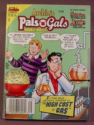Archie's Pals N Gals Double Digest Magazine Comic #129, Apr 2009, Good Condition