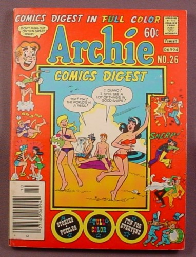 Archie Comics Digest #26, Oct 1977, Very Good Condition