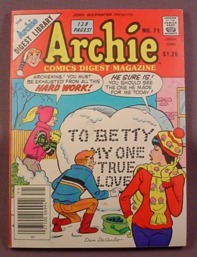 Archie Comics Digest Magazine #71, Apr 1985, Very Good Condition